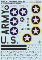 Print Scale Decals 1/48 Douglas SBD Dauntless & A-24 Banshee in Combat Part 3 # 48195